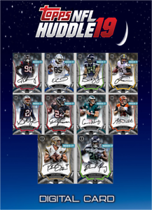 2019 TRIBUTE WAVE 2 SILVER SIGNATURE SET OF 10 CARDS Topps HUDDLE Digital Card