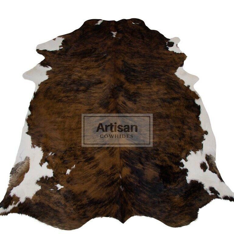 XLARGE BRINDLE Weiß BELLY COWHIDE RUG 6'x5'5  Ft Cow Skin Rug Cow Hide Carpet
