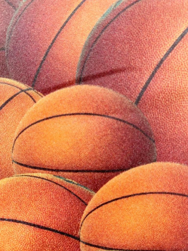 Ralph Marlin Orange Dunkelrot Just Balls Basketbälle Krawatte MSE2120B #P26