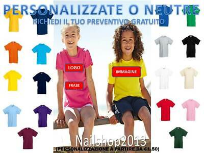 T-shirt, Maglie E Camicie 2019 New Style Maglietta Bambino Manica Corta Fruit Of The Loom Valueweight Personalizzata To Ensure A Like-New Appearance Indefinably