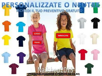 2019 New Style Maglietta Bambino Manica Corta Fruit Of The Loom Valueweight Personalizzata To Ensure A Like-New Appearance Indefinably T-shirt E Maglie