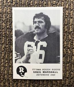 1981 Jogo CFL #4 Greg Marshall Ottawa Rough Riders Oregon State RARE Rookie Card