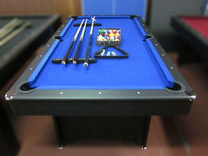 Image Is Loading 7 FOOT BLUE FELT POOL TABLE WITH TABLE