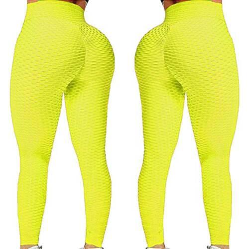 Womens Anti-Cellulite Yoga Pants Leggings Scrunch Push Up Sports Gym Trousers ML