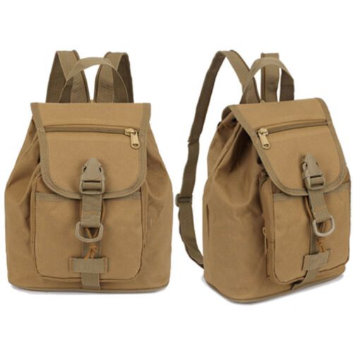 Military Tactical Travel Canvas Sport Rucksack Camping School Hiking Backpack
