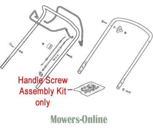 Genuine Mountfield Handle Screw Assembly Kit 381008696//0 HP180 HP183 SP184 SP185