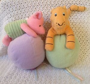 Classic Winnie The Pooh Plush Tigger And Piglet Hanging Balloons Nursery Decor