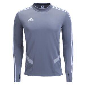 Adidas Men TIRO 19 Training Shirt Grey Running Soccer Top Jersey ...