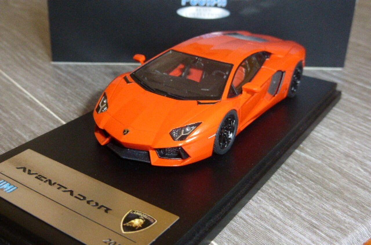 Lamborghini aventador 2011 arancio argos fujimi tsm11fj013 1   43 Orangefarbenen perlen