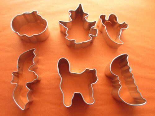 Mini, Pâte de Sucre, Halloween, chauve-souris, sorcière, citrouille, fantôme, Mini Cookie Cutters