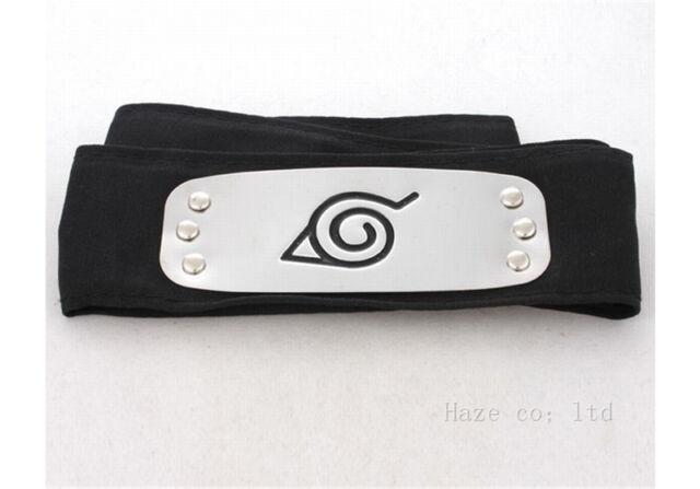 Naruto Shippuden Hidden Leaf Village Black Ninja Cosplay headband kkk 8ee0c3853db