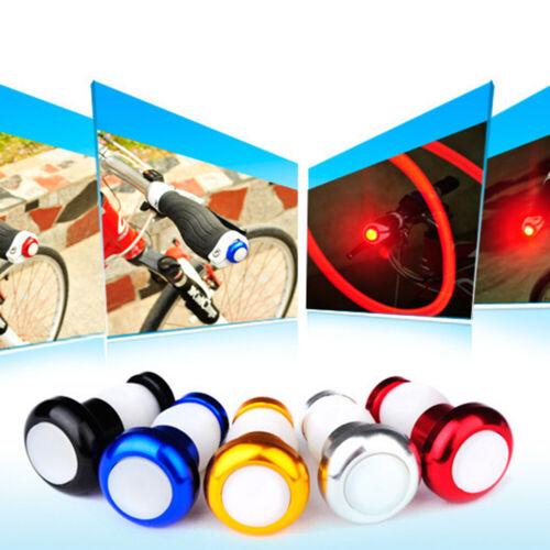 WR/_ 2Pcs Bike Cycling Handle Bar End Plug Cap LED Safety Turn Signal Light Lamp