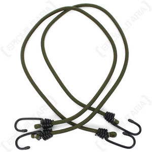 """3 PACK 18/"""" INCH ELASTIC BUNGEE 45CM BUNGEES CORDS CORD HEAVY DUTY OLIVE ROPE"""