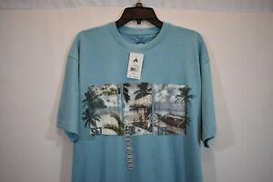 NEWPORT-BLUE-Mens-T-Shirt-Hawaiian-Island-Permanent-Vacation-Aloha-Surf-Beach