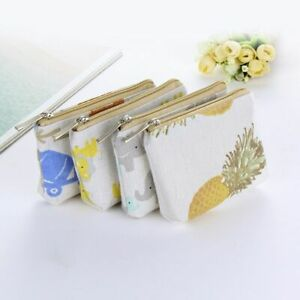Mini-Wallets-Zippers-Kids-For-Women-Canvas-Purse-Coin-Money-Pouch-Pocket-Casual