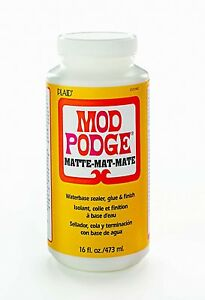 16oz-MOD-PODGE-MATT-FINISH-GLUE-ADHESIVE-SEALER-DECOUPAGE-amp-MORE