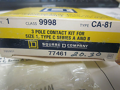 Square D Contact Kit 9998-HF1 2 pole Size 4