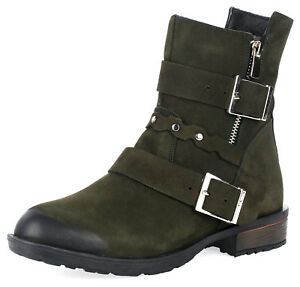 Ladies-Ankle-Boots-Leather-Boots-Lined-Leisure-Artiker-Relaks-C860-Khaki-Green
