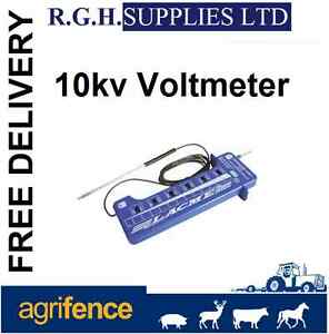 Electric fence tester to measure fence current 10 000v for Recinto elettrico fai da te