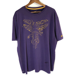 Nike-Dri-Fit-Kobe-Bryant-Black-Mamba-KB-24-Purple-Tee-Shirt-LA-Lakers-Sz-3XL