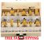 Router Bit Set shank Tungsten Carbide Woodworking Rotary Tool 1//4 inch DEWALT US