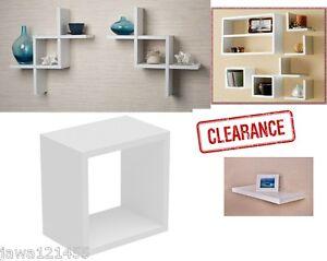 Image Is Loading White Gloss Wall Mounted Shelf 30 X 32