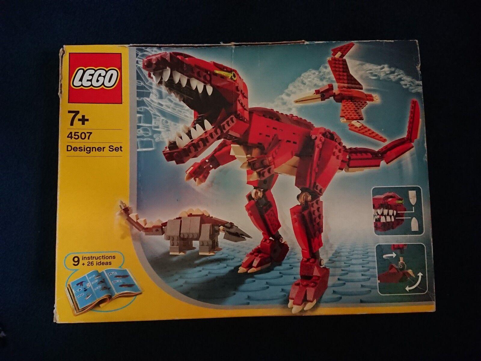 Lego Creator Designer Set Dinosaurs 4507 100% COMPLETE + INSTRUCTION + BOX