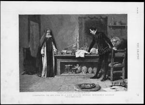 1893-FINE-ART-Antique-Print-ILLUSTRATION-H-Rider-Haggard-Montezuma-231