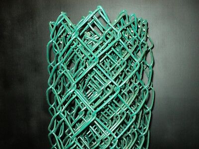 10/' long 4/' high section of GREEN VINYL COATED chain link fence fabric 9 GAUGE