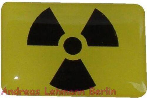 3 D Aufkleber Radioaktiv Flagge wetterfest Atom Bombe verstrahlt Abfall Gift