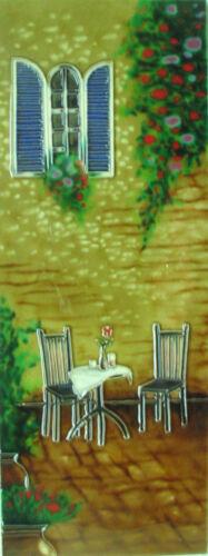 6x16 inch ITALIAN COURTYARD Ceramic Wall Art Plaque Art Ceramic Tile Picture