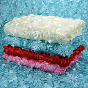 3d rosen blumen stoff blumenmuster teppich hochzeits kleid showcase hintergrund ebay. Black Bedroom Furniture Sets. Home Design Ideas