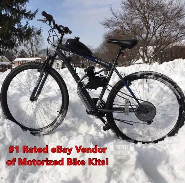 "66/80cc 2-Cycle Engine & 29"" Mountain Bike - Motorized Bicycle Kit - 29er"