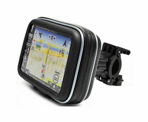 Waterproof Moto Bike Bicycle GPS Case Bag with Stand Mount for SAT NAV Navman HY