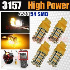4x 3157/3457 SMD 3528 54-LED 170LM Amber Yellow Turn Signal Parking Light Bulbs