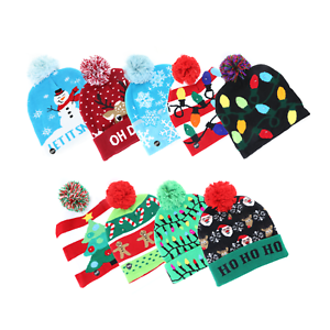 LED Holiday  Beanie Christmas Hat