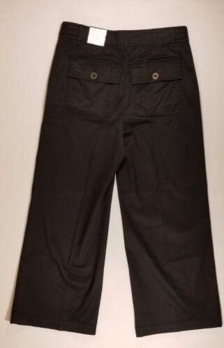 Women/'s White House Black Market 570199431 THE WIDE LEG CROP PANT ~ BLACK ~ 8