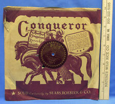 Vintage Conqueror Record Gene And Glen When Its Night Time In Nevada 78 RPM