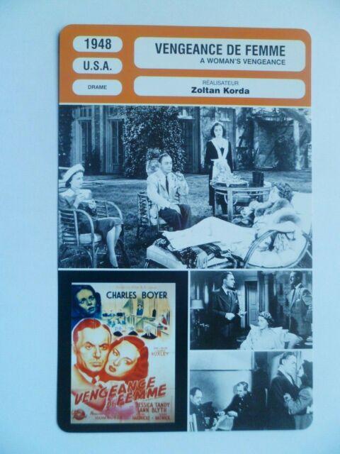 CARTE FICHE CINEMA 1948 VENGEANCE DE FEMME Charles Boyer Ann Blyth Jessica Tandy