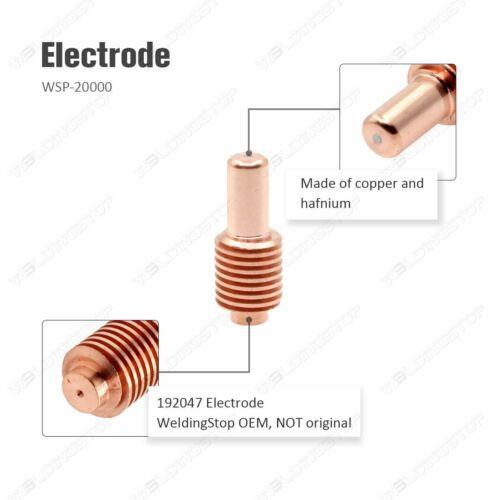 Plasma Electrode 192047 Nozzle 204325 Shield 204323 for ICE 40T 50C//CM PKG-12