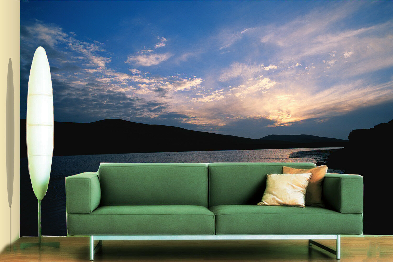 3D Sonnenuntergang Fluss 864 Tapete Wandgemälde Tapete Tapeten Bild Bild Bild Familie DE   Moderner Modus     84d389