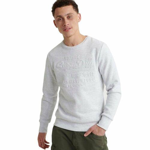 Superdry Sweat Shirt Shop Embossed Crew Sweatshirt Ice Marl