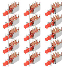Push Button Switch Dpdt 6 Pin 1 Position Self Locking Red 15pcs