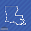 Louisiana LA State Outline Vinyl Decal Sticker
