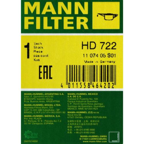 Original MANN-FILTER Hydraulikfilter für Automatikgetriebe HD 722