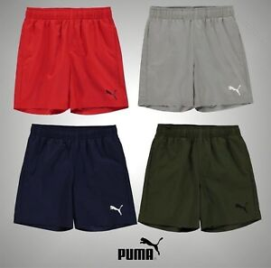 Junior-Garcons-PUMA-Leger-Essentiel-Logo-Shorts-Bottoms-Tailles-7-13-ans