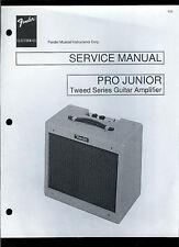 Copy Fender Pro Junior Tweed Series Guitar Amplifier Parts List & Schematic(s)