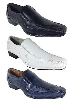 New Men Alberto Fellini Dress Shoes Church Loafers Pointy Black White Blue Nedu