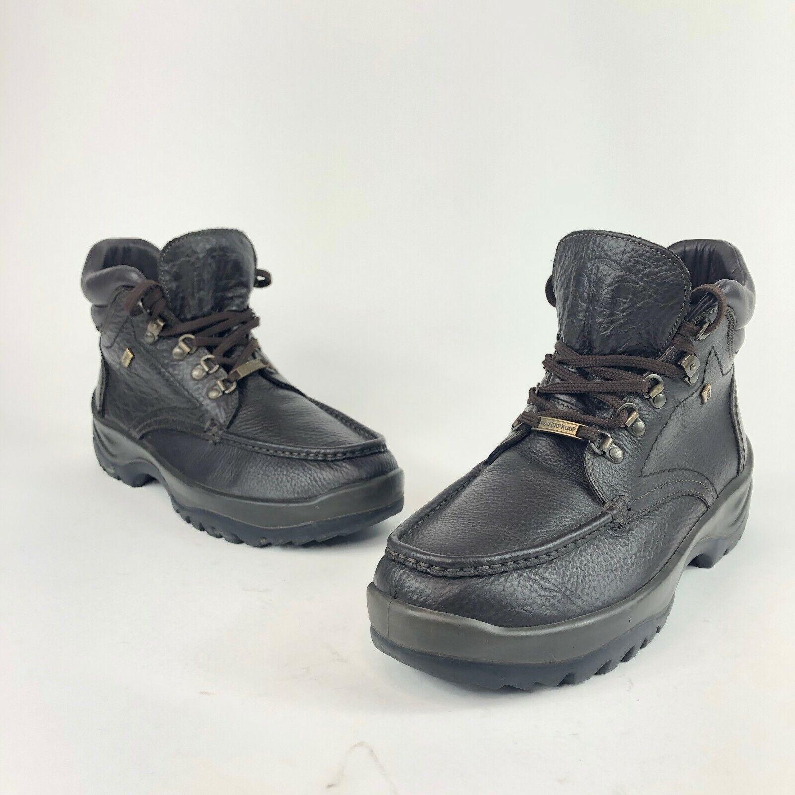 all'ingrosso economico e di alta qualità VTG Uomo Sorel Sorel Sorel Atlantis Waterproof Hiking Leather Ankle stivali Made in  EUC  più economico