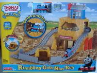 Thomas Take 'n Play Rumbling Gold Mine Run Die-cast Train Along Railway